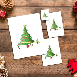Elfing around the Christmas Tree
